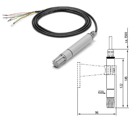 Luftfeuchte- Lufttemperatursensor in Meteorologieausführung (Analog)
